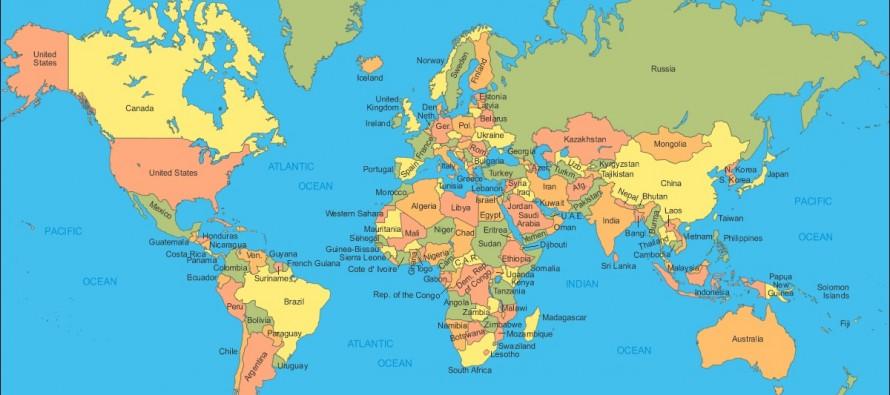 karta sveta rusija Koja država zauzima najveću površinu na svetu? | Osnovne škole karta sveta rusija