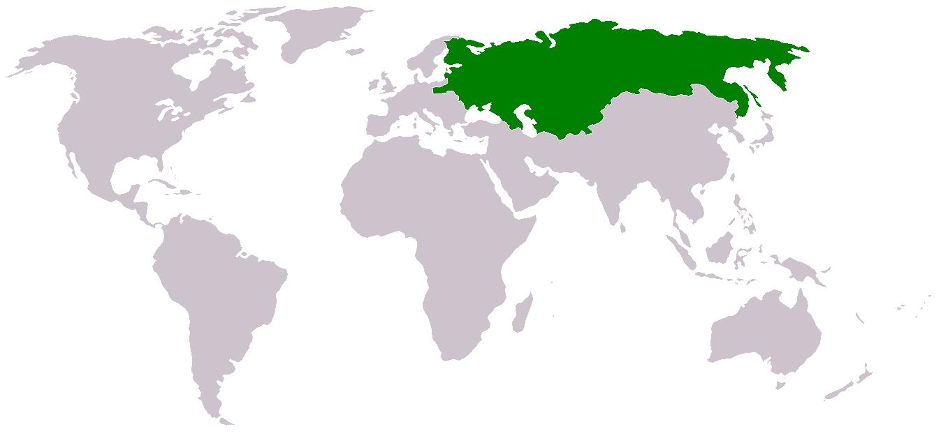 rusija svet karta