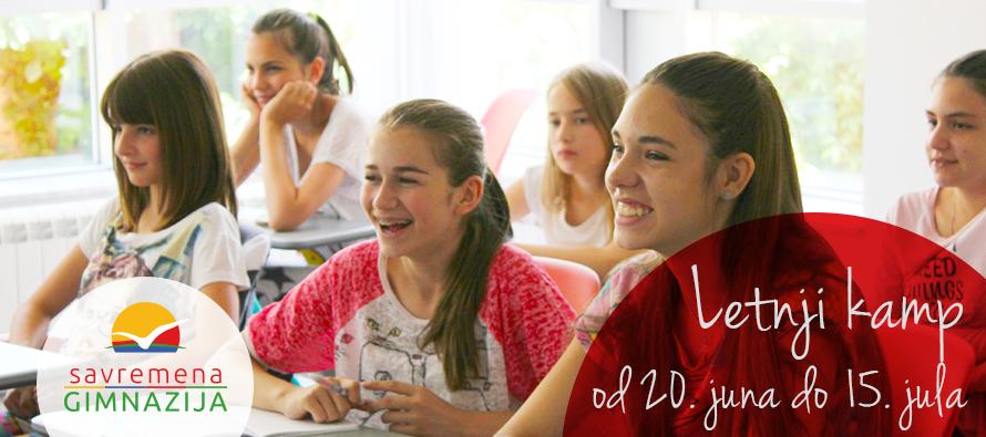 Letnji kamp Savremene gimnazije za druženje i učenje na istom mestu