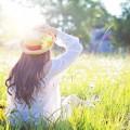 devojka leto sunce