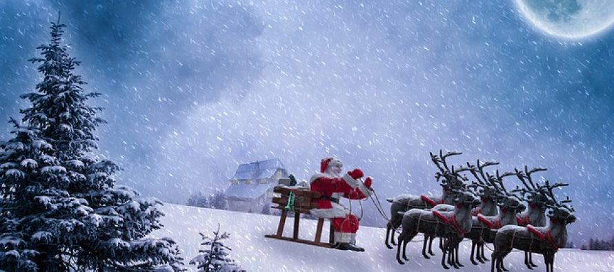 Nauka iza irvasa koji vuku sanke Deda Mraza